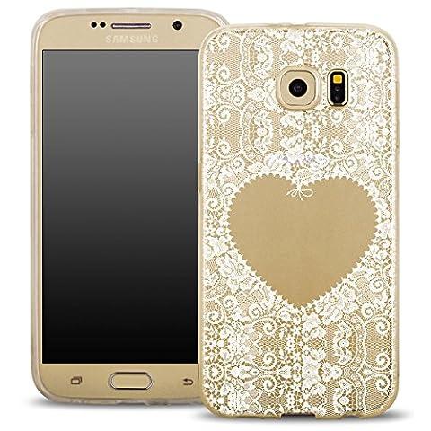 OOH!COLOR Design Case für Samsung Galaxy S7 Hülle Silikon Herz