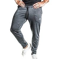 Natural Athlet Fitness Jogginghose meliert - Herren Männer optimal für Fitnessstudio, Gym & Training - Trainigshose mit Passform Slim-Fit - Sport & Freizeithose