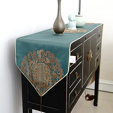 Cinese-stile lusso tavolo da pranzo tavolo runner/ semplice e alla moda tavolino table runner/ bandiera-A 30x200cm(12x79inch)