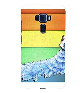 BEAUTIFUL CHRISTIAN BRIDE STANDING INFRONT OF MULTICOLOURED STRIPED BACKGROUND 3D Hard Polycarbonate Designer Back Case Cover for Asus Zenfone 3 ZE552KL::Asus Zenfone 3 (5.5 INCHES)