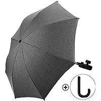Baby Kinderwagen Regenschirm 73cm Durchmesser Universal Sonnenschirm Buggy Kinderwagen 50+ UV-Sonnenschutz mit Einem Regenschirmgriff