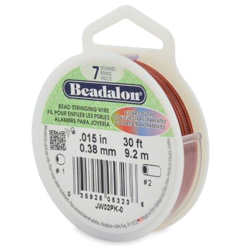 Beadalon Saitendraht, 7 Stränge, 0,38 mm Durchmesser, 30 Fuß/Pkg, Pink (Beadalon 7 Strang)