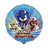 1 x Sonic Boom Redondo Globo de láminas 18 '/ 45 cm