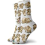Adamitt Neuheit lustige verrückte Mannschafts-Socken-Karikatur-Elefant-Tier druckte Sport-athletische Socken 30Cm lange personifizierte Geschenk-Socken