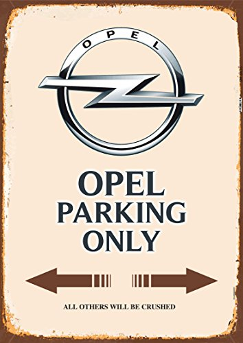 Opel Parking only blechschild auto motorrad park schild