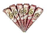 Pride Of India - Natural Herbal Mehndi Cones, Buy 3 - Get 3 Free - 35gm each - No Chemicals/Dyes