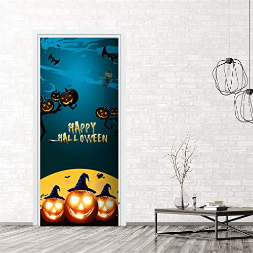 Teen Kreativ Kostüm - QinMM W Halloween Party Dekor,Außenhandel Neue Halloween kreative lustige Tür Aufkleber Glas Fenster Aufkleber