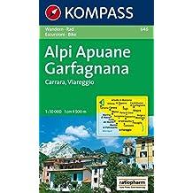 Alpi Apuane - Garfagnana - Carrara - Viareggio: Wanderkarte mit Radrouten. 1:50000 (KOMPASS-Wanderkarten)
