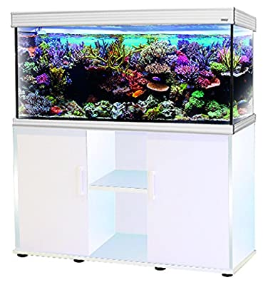 WAVE Design 100 Glossy Aquarium avec Lampe LED pour Aquariophilie Blanc