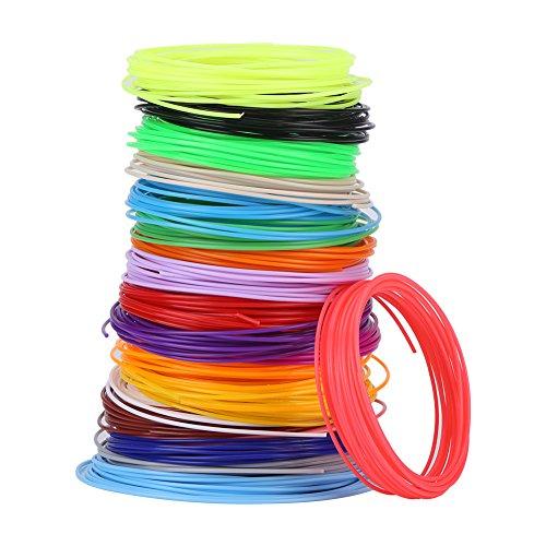 3D Pen Filament Minen, Verschiedene Farben Filament Minen für Low-Temperature 3D Pen, PCL Filament Minen 16,4 Fuß für jede Farbe, 3D Druck Pen Filament Minen 1,75 mm