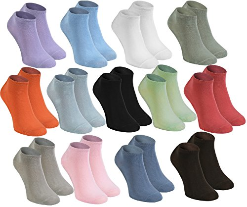 Sneaker BAMBOO Socks By Rainbow Socks - Delicate for Feet, Antibacterial & Breathing SHORT Socks Colourful MULTIPACK for Everyday Use, Super Soft and Comfortable|for Men and Women, Made in Europe