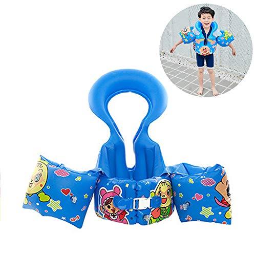DASGF Schwimmjacke FüR Kinder,Aufblasbare Armschwimmer,Aufblasbare Armschwimmer Zum Schwimmenlernen,Neue Hohe QualitäT,DREI-In-Einem-Gelenk-Design,2-6 Jahre Alt,14-25kg,Blue -