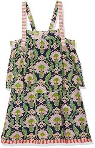Scotch & Soda R'Belle Mädchen Strandkleid Layered Beach Dress with Tassles, Mehrfarbig (Combo K 590), 128 (Herstellergröße: 8) (Beach Belle Bademode)