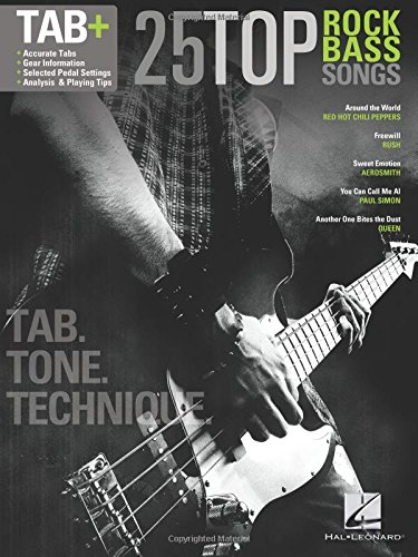 25 Top Rock Bass Songs Tab: Noten, Songbook, Grifftabelle für Bass-Gitarre (Bass-gitarren-rock-songs)