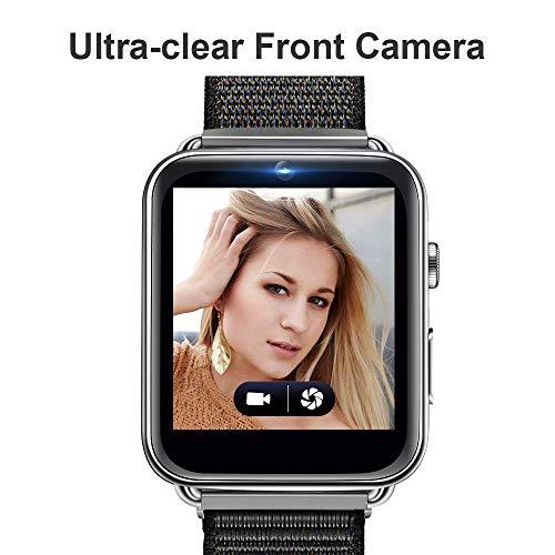 Reloj Inteligente Bluetooth para LEM10 Android 7.1 4G 700MAh IP67 Reloj Inteligente a Prueba de Agua Reloj Deportivo GPS Reloj Monitor de Ritmo cardíaco podómetro Monitor de sueño. (Plata, 3G + 32G)