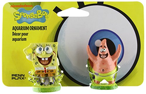 Penn Plax aquariophilie 23606 Play of figures of SpongeBob and Patrick