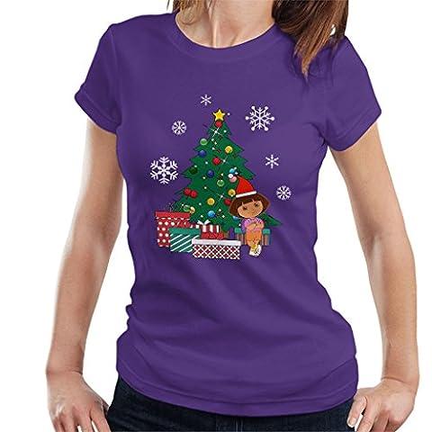 Dora The Explorer Around The Christmas Tree Women's T-Shirt