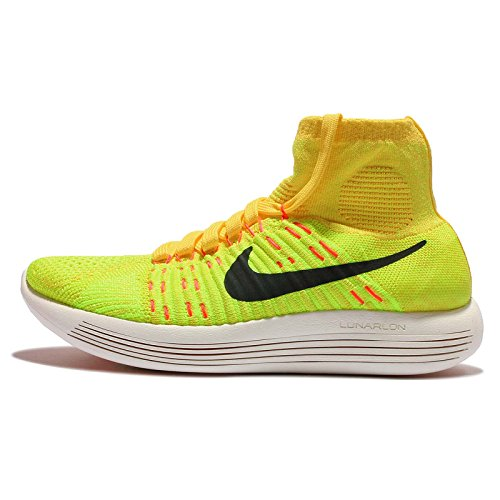 Nike Wmns Lunarepic Flyknit, Scarpe da Corsa Donna Giallo (Amarillo (Yllw Strike / Blck-Vlt-Hypr Orng))