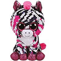 Ty Flippables TY36672 Zooey Sequins Soft Toy 15 cm Zebra Multicoloured