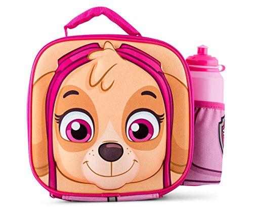 Paw Patrol Pink Skye 3D Thermische Mittagessen Tasche mit Sport Flasche - Mittagessen-tasche Sport