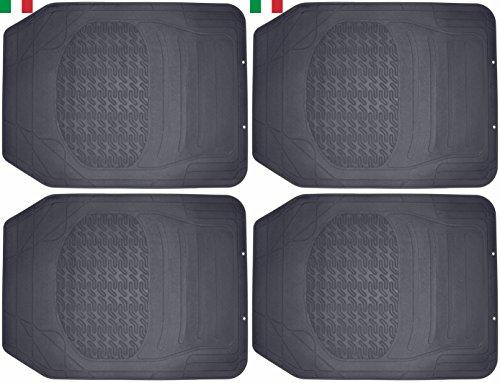CENNI 39284 2 Lots de Tapis Avant Auto en Caoutchouc, Universels et Découpables, Made in Italy