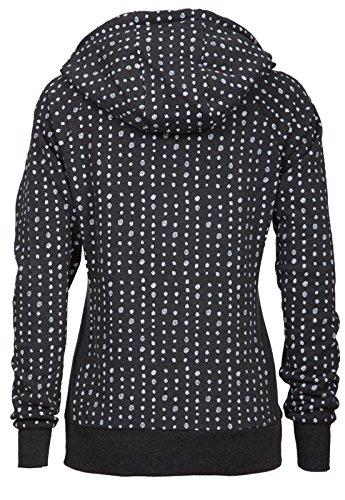 New View - Sweat-shirt - Femme * One Size Schwarz Weiß gepunktet