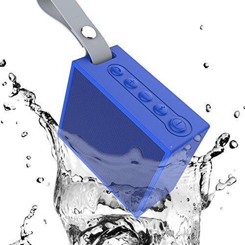 Esonstyle Altavoz Bluetooth Portátil Inalámbrico IPX6 Impermeable Altavoz Deportivo a Prueba de Golpes con Control Remoto de la Cámara/ Micrófono/Entrada de Audio de 3,5 mm, Pares con Todos los Dispositivos Bluetooth