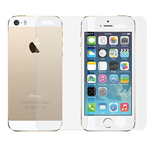 Apple iPhone 5 5S 5C Front and Back Tempered Glass, Apple iPhone 5 5S 5C Front and Back Screen Guards, Tempered Glasses BY RSC POWER+  available at amazon for Rs.149