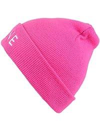DRUNKEN Women's Winter Caps for Women Woolen Plain Skull Knit Beanie Cap Warm Cap Pink Freesize