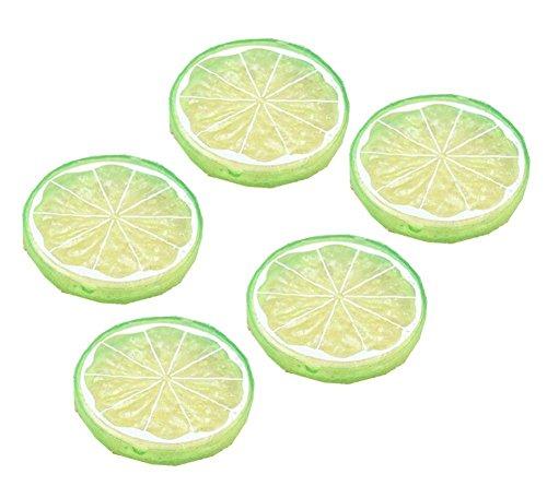 qingsun 5x künstlichen Lemon Slice Fruits Home Dekoration Fake Lemon Slice Food Fruit - Künstliche Zitrone Scheiben