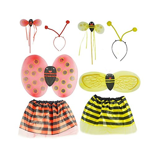 Small Bee Costume Clothes Ladybird Child Dance Performance Clothing as Shown Lemon Tree