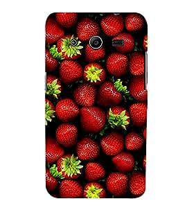 Print Masti Designer Back Case Cover for Samsung Galaxy Core 2 G355H :: Samsung Galaxy Core Ii :: Samsung Galaxy Core 2 Dual (Strawberry Bunch Delisious random )