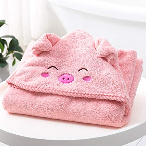 Tier Kapuze Baby-Handtuch Waschlappen Ultra Soft Und Extra Large, 100% Baumwolle Bademantel for Dusche Geschenk for Jungen oder Mädchen (2-10Year) (Color : Pink)