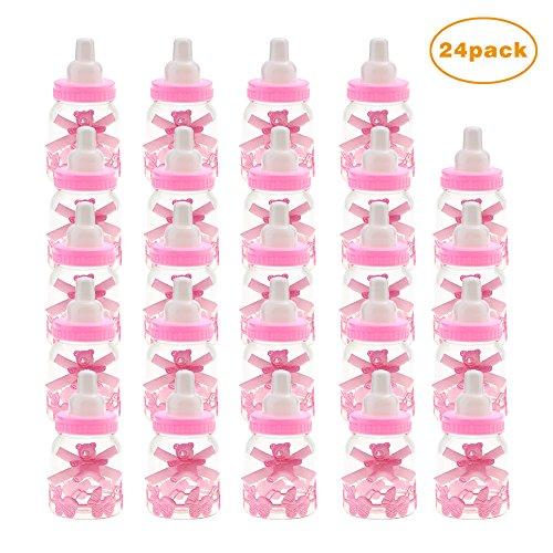 Caramella bottiglia biberon vasetto caramelle forma per regalo scatola baby shower 24 pcs - rosa