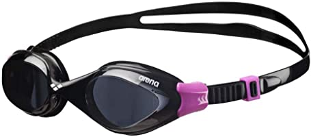 Arena Fluid Swimming Goggles, Unisex Adult, Unisex adult, Fluid, Black (Smoke/Black), only size