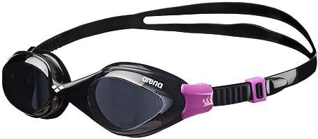 نظارات سباحة سائلة من Arena، للجنسين البالغ, للبالغين، لون أسود (سوداء/سوداء)، مقاس واحد