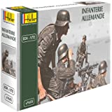 Heller Classic 49605 Miniature Figurines German Infantry 48 Pieces [German Import]