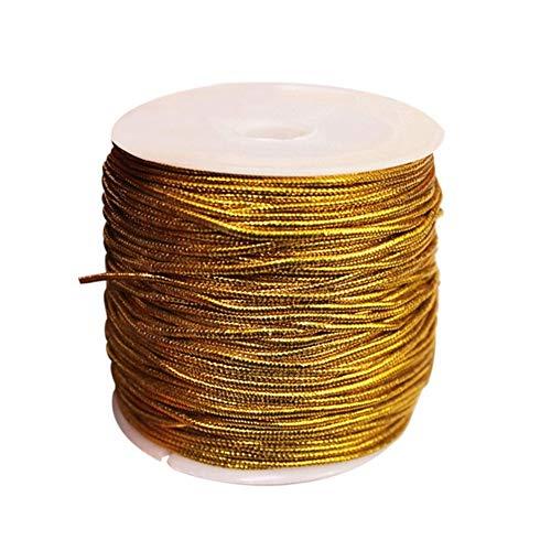 25 M/rollo de oro/plata hilo decoración decoración artesanal regalo embalaje/artesanía