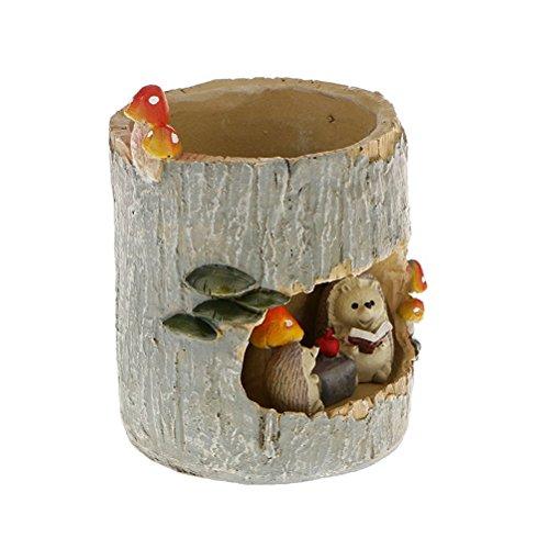 OULII Niedliche Igel Blume Sedum Sukkulente Topf Pflanzer Bonsai Trog Box Anlage Bett Office Home Topf Gartendekoration