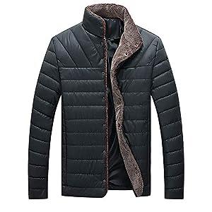 Oasics Mode Daunenjacke Winter Herren Herbst und Winter große Größe warm lässig Tasche Knopf Kapuzenhemd warme Jacke M-5XL