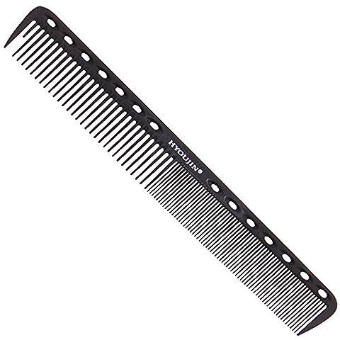 hyoujin® Noir Carbone Professional Styling peigne, peigne de coupe de cheveux salon, Coiffeur Coiffure Peigne de barbier