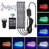 Auto Innenbeleuchtung Ambientebeleuchtung - STYLINGCAR Auto Streifen Licht LED Ambiente Beleuchtung USB-Port und Autoladegerät Auto Lichtleiste 48 Licht (Remote control)