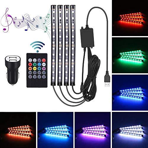 Innenbeleuchtung Ambientebeleuchtung - STYLINGCAR 48 Streifen Licht LED Ambiente Beleuchtung USB Port Lichtleiste (Remote Control)