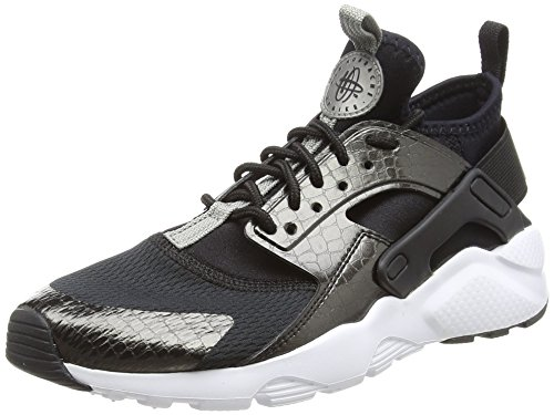 Nike air huarache run ultra gs, scarpe da ginnastica bambino, nero (black/mtlc pewter/black/white), 36 eu