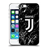 Head Case Designs Ufficiale Juventus Football Club Nero 2017/18 Marmoreo Cover Morbida in Gel per iPhone 5 iPhone 5s iPhone SE