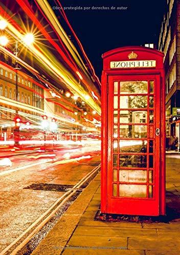 Libretas Londres: Libreta Dina 5, Libreta Rayada, Libreta Rayada A5, Blogs y Cuadernos de Notas - Libreta Londres #7 - Tamaño: A5 (14.8 x 21 cm) - 110 ... pequeña,libretas bonitas,notizbuch,libreta) por Prime Publishing