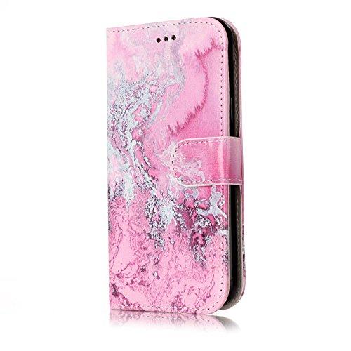 Für Samsung Galaxy J3 2017 Horizontale Flip Case Cover Luxus Blume / Marmor Textur Premium PU Leder Brieftasche Fall mit Magnetverschluss & Halter & Card Cash Slots ( Color : F ) D