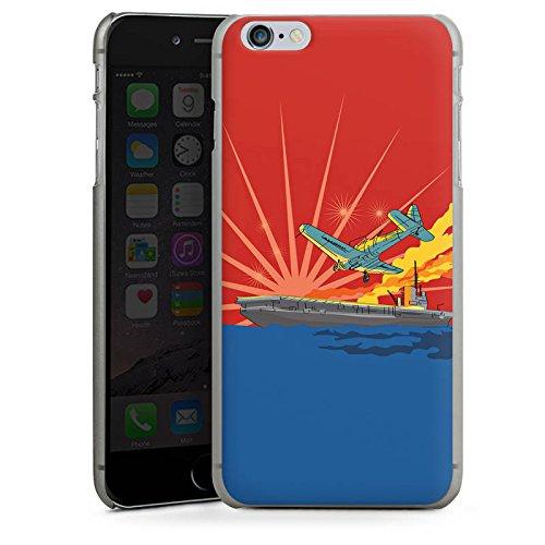 Apple iPhone X Silikon Hülle Case Schutzhülle Flugzeug Schiff Meer Hard Case anthrazit-klar