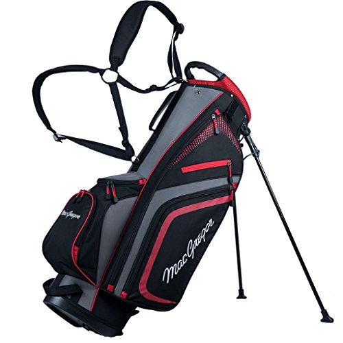 Macgregor 2017 Tourney PLUS 9' Stand Bag Mens Golf Carry Bag 7-Way Divider Black/Red