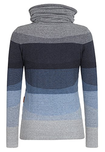 Naketano Female Knit Joao Schmierao III Bluegrey Melange Striped